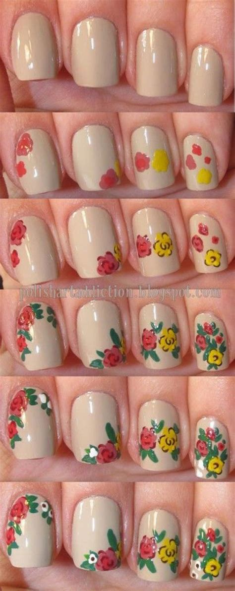 tutorial nail art flower 15 easy spring nails tutorials for beginners learners