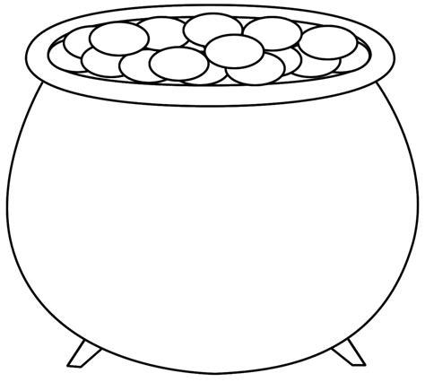 pot of gold clip art black and white www pixshark com