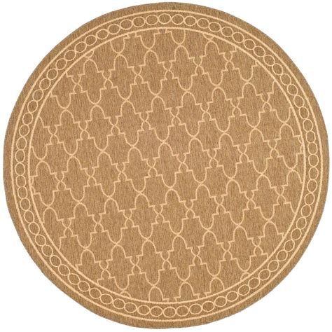30 round rugs and exles of how to complete the look of safavieh courtyard dark beige beige 7 ft 10 in x 7 ft