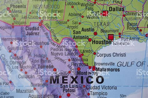 map of mexico and texas las fronteras nacionales mapa de m 233 xico texas usa frontera stock foto e imagen de stock istock
