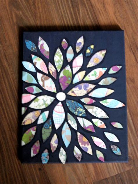 Scrapbook Paper Crafts - scrapbook paper decoupaged on canvas inspiring