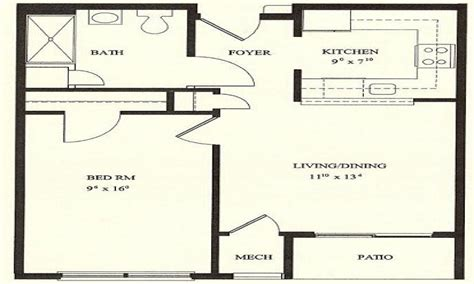 Floor Plan For One Bedroom House | 1 bedroom house plans 1 bedroom floor plans 1 bedroom