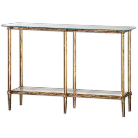 Uttermost Home Decor by Elenio Glass Console Table 24421