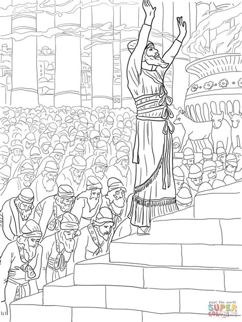 coloring pages for king solomon solomon prayer in the temple coloring page supercoloring