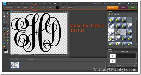 printing large letters on computer how to make a large monogram cutout the easy way in my