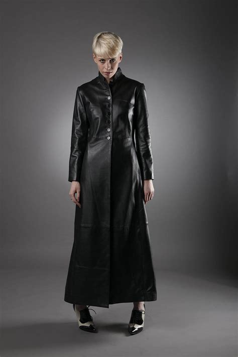 The Leather leather matrix coat in black leather coats leather