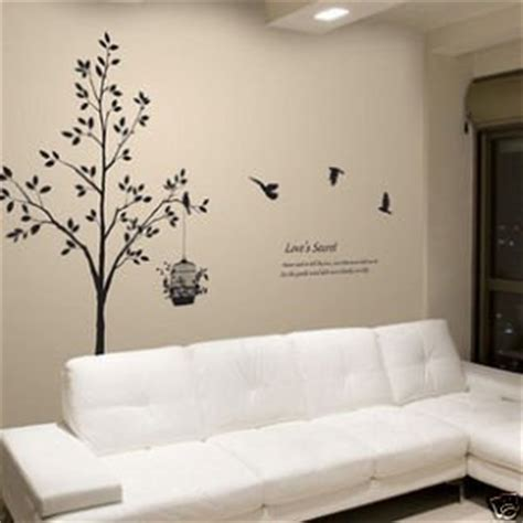 deco wall stickers modern decor wall sticker vinyl deco tree bird 2 in