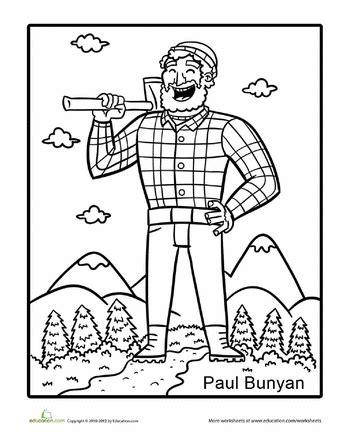 Printable Version Of Paul Bunyan | paul bunyan coloring pages coloring home