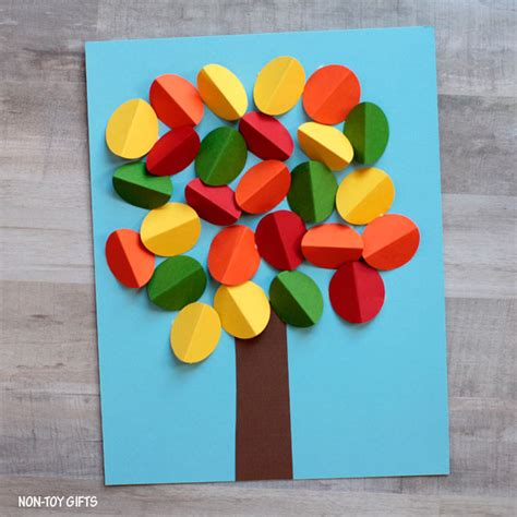 3d Crafts With Paper - 3d paper autumn tree craft non gifts
