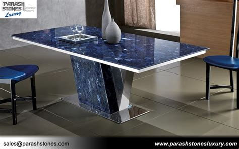 Blue Kitchen Backsplash semi precious tabletop agate gemstone table manufacturer
