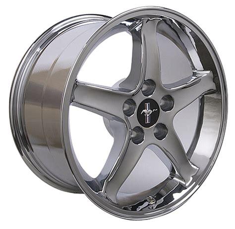 cobra r wheels 17 9 quot chrome mustang cobra r wheels rims 94 06