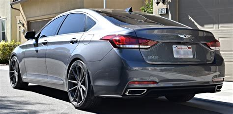 rims for hyundai genesis sedan get stylin with this lowered genesis on tsw wheels