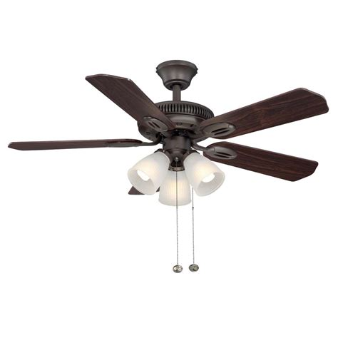 rubbed bronze ceiling fan with light hton bay glendale 42 in indoor rubbed bronze