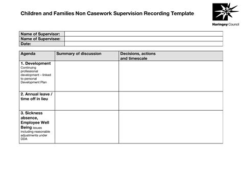 employee supervision template 22 images of missouri clinical supervision template