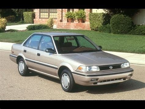 1991 toyota corolla start up and review 1.6 l 4 cylinder