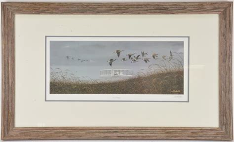 10 inch framed matted geese bob timberlake flight print