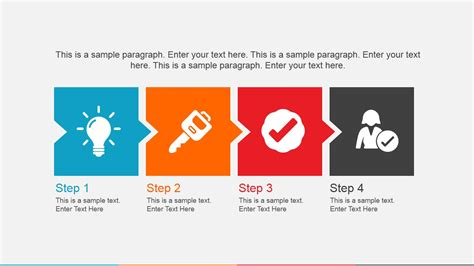 powerpoint templates for picture slideshow 4 icons in a row powerpoint slide slidemodel