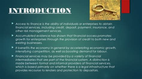 Formal And Informal Credit System formal and informal finance systems