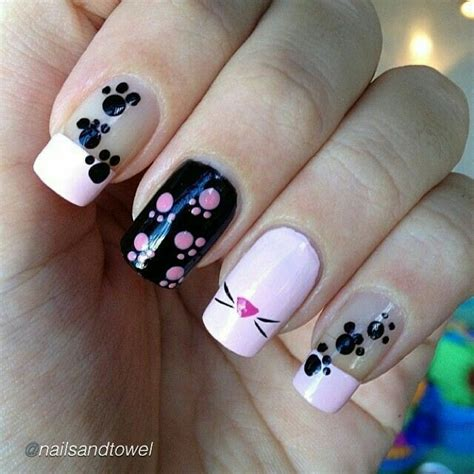 Slowly Transition Your Black Nails Into by Best 25 Cat Nail Ideas On Cat Nails