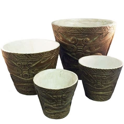 Tiki Planter by Classic Tiki Planters Set Of 4 Only 49 99 At