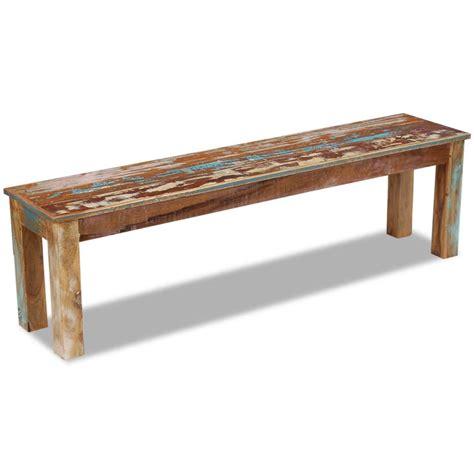solid bench vidaxl co uk vidaxl bench solid reclaimed wood 160x35x46 cm
