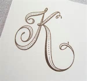 monogram letter tailored january 2012