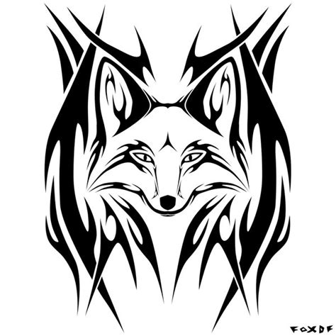tribal fox tattoo designs foxes fox tattoos and image search on