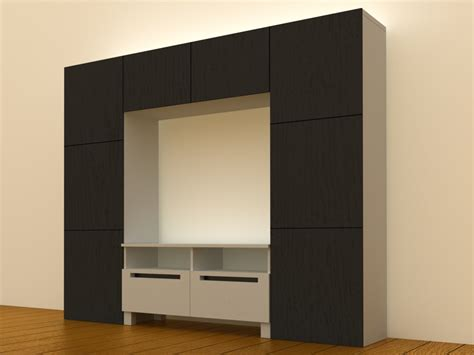 besta tv storage ikea besta tv storage 3d model