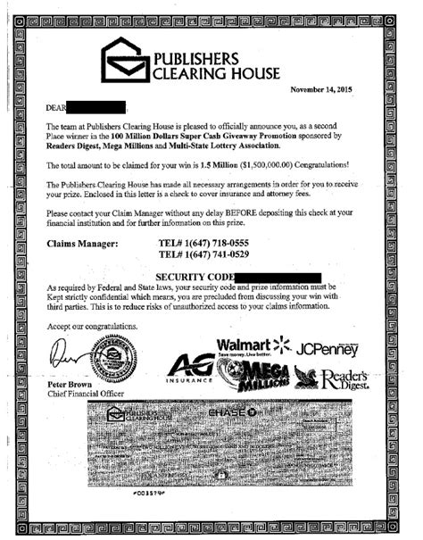 Publishers Clearing House Fraud - are publishers clearing house sweepstakes scams share the knownledge