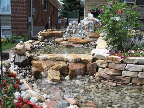 cascata giardino cascate pietra giardino acqua come fare cascate in pietra