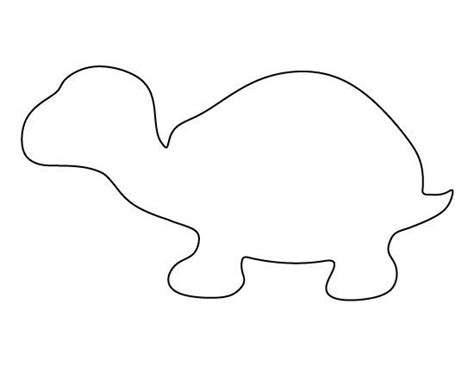 printable turtle templates turtle pattern use the printable outline for crafts