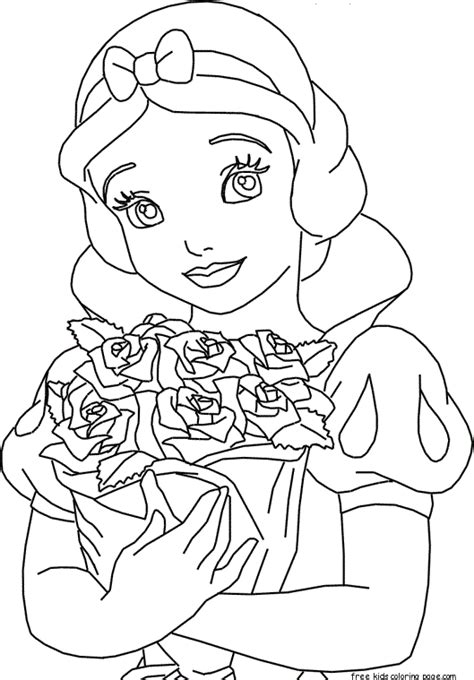 snow princess coloring pages disney princess snow white coloring pagesfree printable
