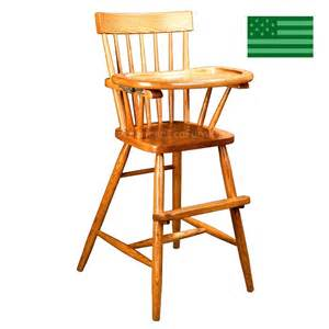amish comb back baby high chair solid wood handcrafted