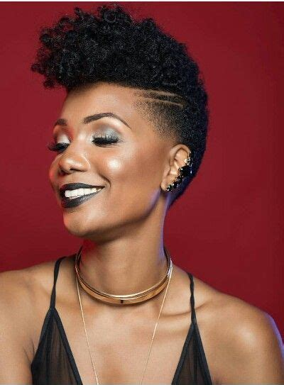 african american women hairstyle thats shaved on both side tapered twa shaved sides hair pinterest tapered twa