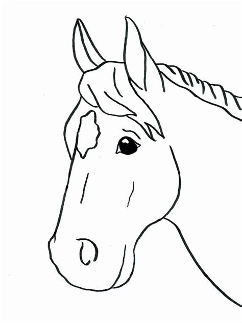 simple horse coloring page horse coloring pages easy horse coloring pages kids