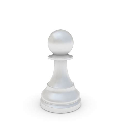 chess pieces pawn white cgtrader