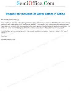 Loan Request Letter To Gm Water Increase Letter Request To Gm