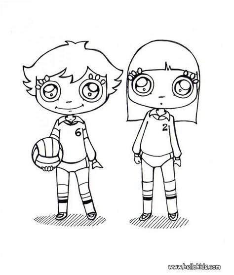 coloring pages volleyball girl volleyball coloring pages