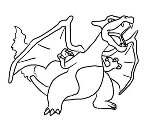 pokemon coloring pages mega charizard kolorowanka charizard 171 maluchy pl