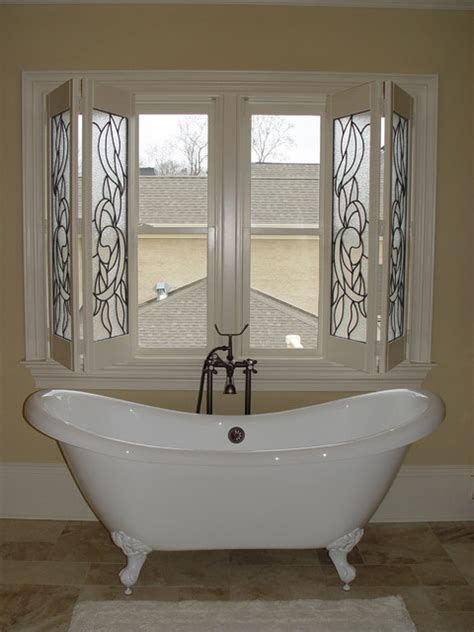Bathroom Window Shades by Elite Shutters In Bathroom Settings Traditional Window