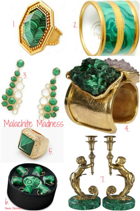 gemstone home decor pekerman p2 fashion malachite jewelry and home decor accents