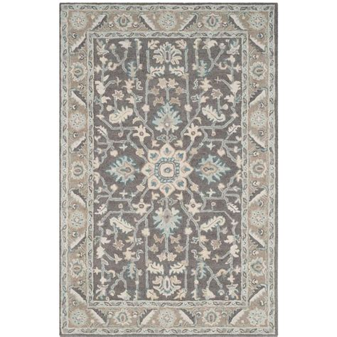 gray and brown area rug safavieh blossom grey light brown 4 ft x 6 ft area rug blm217a 4 the home depot