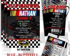 printable nascar tickets printable nascar invitations ticket style customized