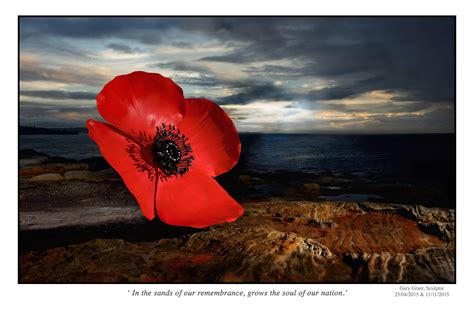 monumental poppy sculpture free anzac day 2015 event