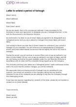 letter extend period furlough cipd hr inform