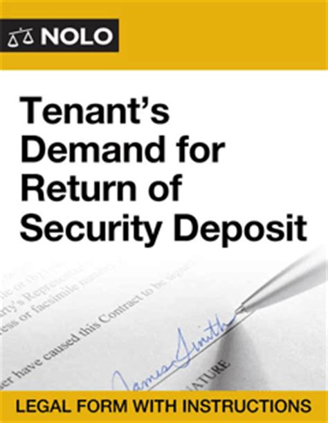 Demand Letter Unauthorized Practice Of tenant s demand for return of security deposit