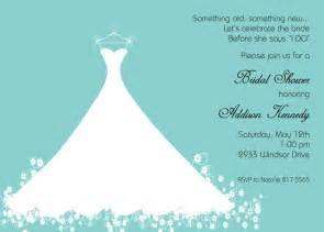 bridal shower invitation templates bridal shower invitation aqua blue wedding gown printed