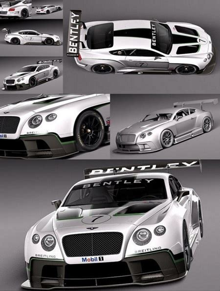 bentley continental gt3 r racecar 3d model bentley continental gt3 2014 racecar