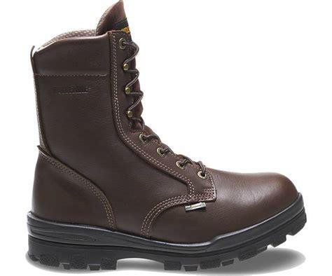 wolverine durashocks steel toe waterproof eh 8 quot work boot