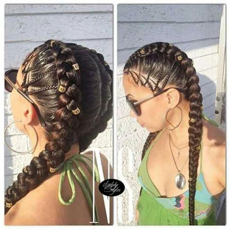 two canrows hairstyle two corn row braid braids pinterest corn rows hair